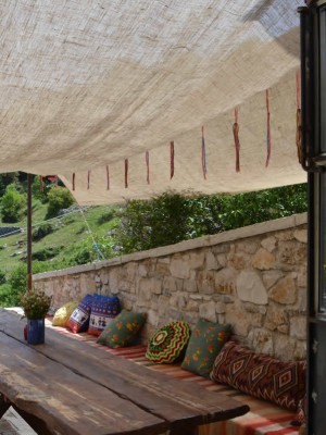 Summer time in Anemi guesthouse & restaurant in the Zagori region, Ioannina