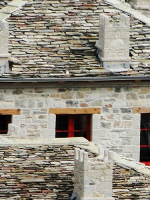 """Anemi consists of 7 guest rooms, the """"magirio"""" (the old house's kitchen room) and the farm and it overlooks the highlands of Zagori"""