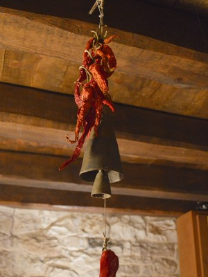 All cooking ingredients is within reach. Either hanging from the ceiling or on the table. Feel free to make jams and chutney or pasta, as well as anything else you might think of, in our kitchen facilities here in Anemi Inn in Kato Pedina village in the Zagori